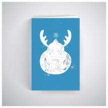 Kalėdinis atvirukas SOS037N