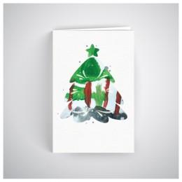 Kalėdinis atvirukas SOS041N