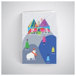 Kalėdinis atvirukas SOS1908