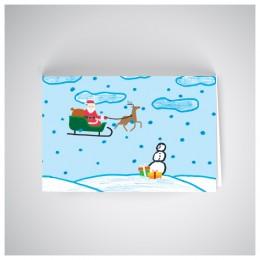 Kalėdinis atvirukas SOS1909