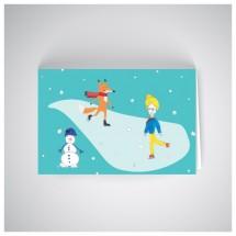Kalėdinis atvirukas SOS1910