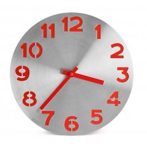Wall clock DIGIT red