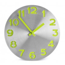 Wall clock DIGIT light green