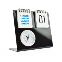 Desk clock with calendar