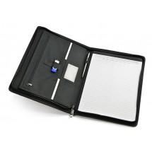 Portfolio with zipper black
