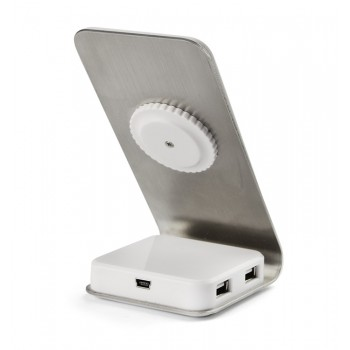 Phone holder with USB ports