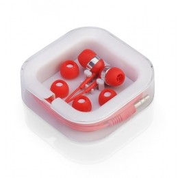 Earphones set red