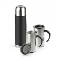 Vacuum flask 500 ml and 2 travel mugs 280 ml
