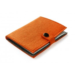 Felt notebook orange
