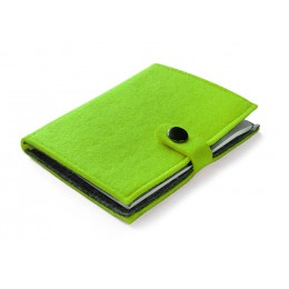 Felt notebook light green