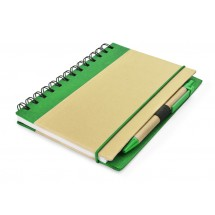Notebook with pen green