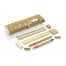 Bamboo pencil case