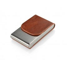 Business card holder LER brown