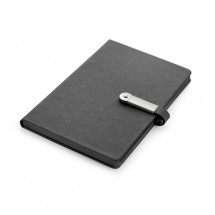 Notebook with USB flash drive 8GB black