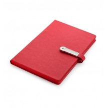 Notebook with USB flash drive 8GB red