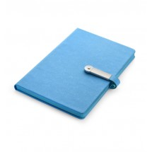 Notebook with USB flash drive 8GB light blue