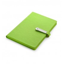 Notebook with USB flash drive 8GB light green