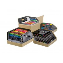 Painting set (pencils, crayons, markers, paints)