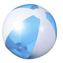 Beach ball light blue transparent