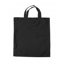 Cotton bag with short handles black