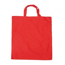 Cotton bag with short handles red