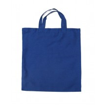 Cotton bag with short handles navy blue