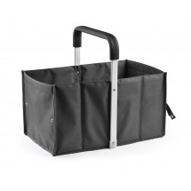 Foldable shopping basket black