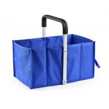 Foldable shopping basket blue