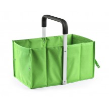 Foldable shopping basket light green