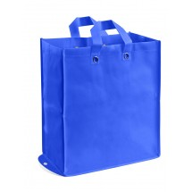 Foldable non-woven bag blue