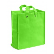 Foldable non-woven bag light green