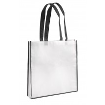 Shopping bag white and black