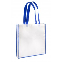 Shopping bag white and blue
