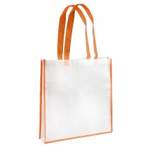 Shopping bag white and orange