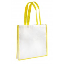 Shopping bag white and yellow