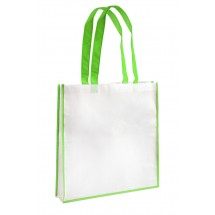 Shopping bag white and light green