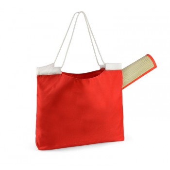 Beach bag with mat red