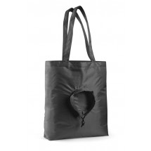 Foldable bag RUND black