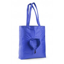 Foldable bag RUND blue