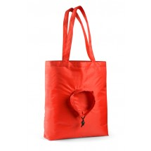 Foldable bag RUND red