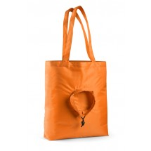 Foldable bag RUND orange