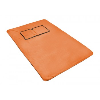 2 in 1 blanket orange