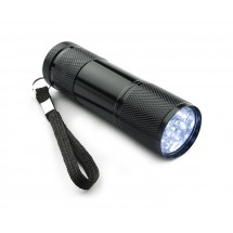 LED flashlight RAY black