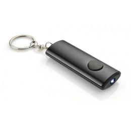 Keychain with flashlight black