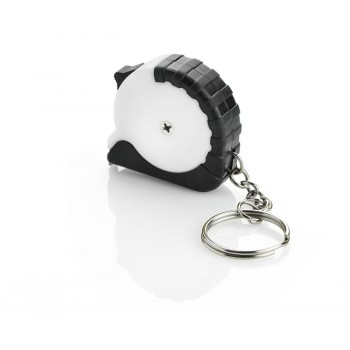 Keychain - tape measure white