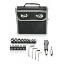 Tool set in a case
