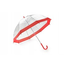 Transparent umbrella SKY red