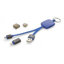USB cable 2in1 MOBEE blue