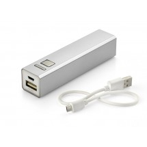 Power bank 2200 mAh silver