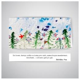 Kalėdinis atvirukas SOS018N
